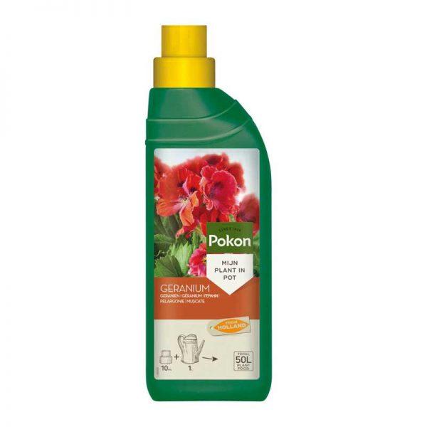 کود مایع مخصوص گلدهی گل شمعدانی پوکون